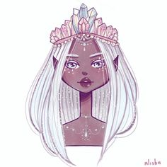 "(@alishaillustration) ""My little crystal queen """