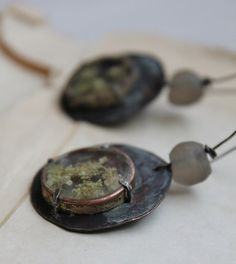 tribal victorian post apocalyptic earrings copper by nearlylost