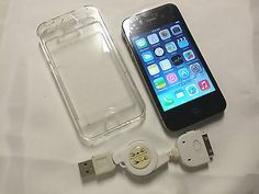 Rogers Apple iPhone 4s SmartPhone 16GB iOS 7.1.2 Black with Clear Case