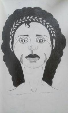 Portrait imaginaire au crayon by Lise