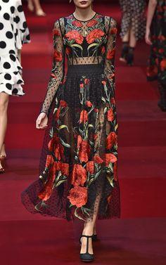 Dolce  amp  Gabbana Spring Summer 2015 Trunkshow Look 72 on Moda Operandi  Spanish Dress 49c958da09