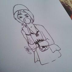 #draw #drawing #desenho #chloe #sketch