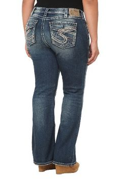 Women's Plus Size Destructed Skinny Jean with Patches Medium Denim ...