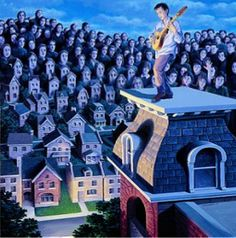 Take a look at this amazing Rob Gonsalves Magic Realism Illusions illusion. Browse and enjoy our huge collection of optical illusions and mind-bending images and videos. Amazing Optical Illusions, Art Optical, Illusion Paintings, Illusion Art, Magic Realism, Realism Art, Amazing Paintings, Amazing Art, Amazing Things