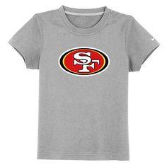 e0f2c04c1 San Francisco 49ers Sideline Legend Authentic Logo Youth T-Shirt Grey   Emillia Kelly Nfl