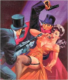 damsellover: The Shadow pulp art.