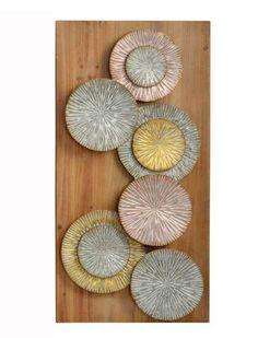 Tableau en bois nénuphare | KOTECAZ Metal Wall Art Decor, Metal Walls, Decoration, Pottery, Diy, Inspiration, Home, Large Painting, Wooden Picture