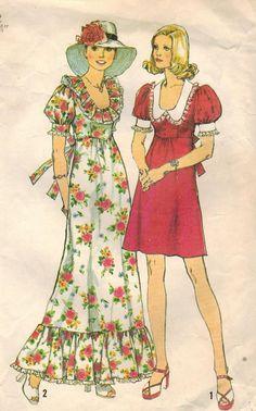 années 1970 simplicité 6279 Vintage Sewing par midvalecottage