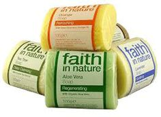 Mixed pack of faith in nature soaps
