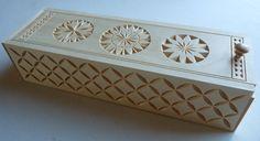 sliding lid box chip carving