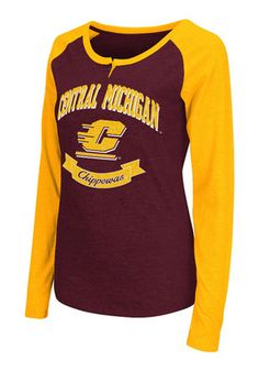 Colosseum Central Michigan Chippewas Womens Healy Scoop Neck Tee