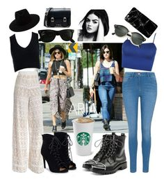 """""""Untitled #15"""" by baranovaji ❤ liked on Polyvore featuring rag & bone, Ray-Ban, Sans Souci, Alice + Olivia, JustFab, WearAll, George, Alexander Wang, Dr. Martens and A Weathered Penny"""