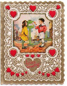 Vintage Valentine Postcards and Illustrations for Collectors: Old Fashioned Valentine