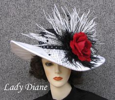 Kentucky Derby White with Black and Red