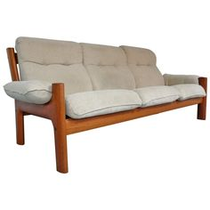 Norwegian Teak Sofa by Ekornes | From a unique collection of antique and modern sofas at https://www.1stdibs.com/furniture/seating/sofas/