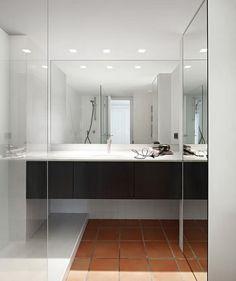 bathroom terracotta flooring