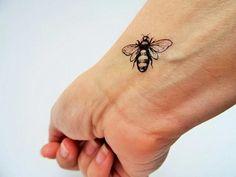 6 bee temporary tattoos /realistic bee tattoo / vintage bees