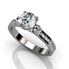 1.50 CT ROUND DIAMOND ENGAGEMENT SOITIARE PROMISE RINGS 14k WHITE GOLD - Design: Amzpr-02248 (RING SIZE: 10)