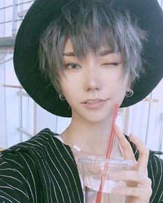 From Mystic Messenger? Cute Asian Guys, Cute Korean Boys, Cute Guys, Cut My Hair, Hair Cuts, Pretty People, Beautiful People, Cute Japanese Boys, Human Poses Reference