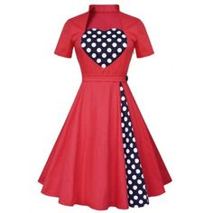 SHARE & Get it FREE | Vintage Polka Dot Panel High Waist DressFor Fashion Lovers only:80,000+ Items·FREE SHIPPING Join Dresslily: Get YOUR $50 NOW!