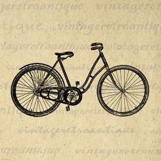 Digital Antique Bicycle Printable Image Bike Download Illustration Graphic Vintage Clip Art. Printable high quality digital image download from antique artwork. This high resolution digital illustration can be used for iron on transfers, making prints, tote bags, tea towels, pillows, papercrafts, and many other uses. Personal or commercial use. This graphic is high quality and high resolution at size 8½ x 11 inches. Transparent background version included with every digital image.
