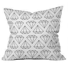 {DENY Diamond Pillow} design by Wesley Bird