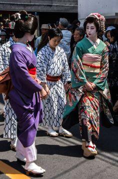 Asakusa Sanja Matsuri parade 6/17 And of course a delegation of real Asakusa…