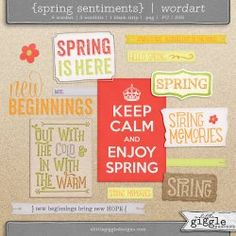 {Spring Sentiments} Wordart | A Little Giggle Designs