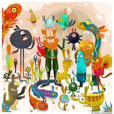 dessin de drôles de monstres