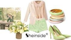 """Pastel SheInside"" by ebonyvintage-nahoot ❤ liked on Polyvore"