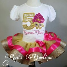 Shopkins Ribbon Tutu Set by RenesBowtique on Etsy