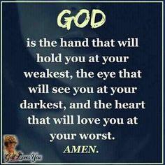 God is love!!♡♡♡~ Prayers Of Encouragement, Faith Quotes, Bible Quotes, Catholic Quotes, God Prayer, God Jesus, Jesus Christ, Daughter Of God, Gods Promises