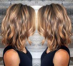 Light Brown and Caramel Balayage On Medium Hair
