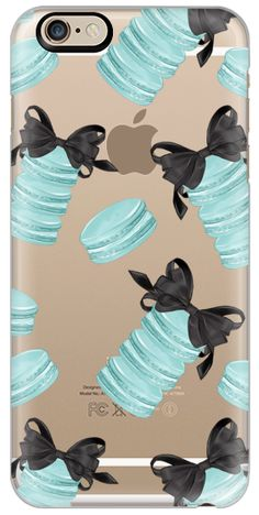 Casetify iPhone 6s Classic Snap ケース - Macaroons Tiffany Blue Fashion Illustration Transparent Breakfast at Tiffany's Girly Mint Black Classy Glamour Watercolor Coffee by Frou Frou Craft #Casetify