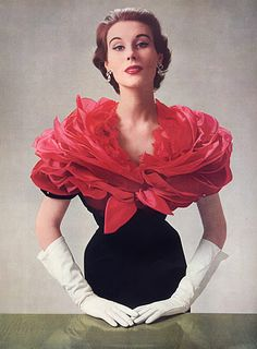 Givenchy 1952 | red wrap #josephine#vogel