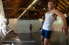 Ms. Jamison leads Contemporary class at Jacob's Pillow