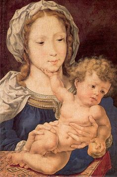 Jan Mabuse was the name adopted (from his birthplace, Maubeuge) by painter Jan Gossaert; or Jennyn van Hennegouwe (Hainaut) (Flemish artist, Madonna Saint Christopher, Religious Images, Religious Art, Religious Paintings, Jan Gossaert, Robert Campin, National Gallery, Queen Of Heaven, Mama Mary