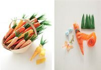 Easter craft: Crepe paper carrots - little. lovely. - Life's better when you add a little lovely.