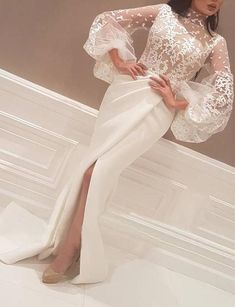 high neck evening dresses 2020 ivory lace appliqué arabic mermaid evening gown formal party dress high neck evening dresses 2020 ivory lace appliqué arabic mermaid even – inspirationalbridal Evening Gowns With Sleeves, Lace Evening Dresses, Prom Dresses, Plus Size Evening Gown, Ladies Dresses, Wedding Dresses, Elegant Wedding Guest Dress, Plus Size Formal Dresses, Formal Gowns