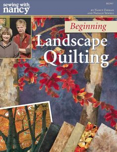 How to Make a Landscape Quilt Wallhanging With Natalie Sewell and Nancy Zieman. Beginning Landscape Quilting by Natalie Sewell and Nancy Zieman of PBS's Sewing With Nancy Television Show. Thread Painting, Fabric Painting, Fabric Art, Quilting Tutorials, Quilting Projects, Quilting Designs, Quilting Tips, Art Quilting, Machine Quilting