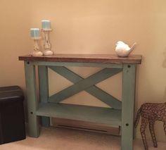 Narrow Hall Tables diy narrow hallway table - plus free plans | narrow hallway table