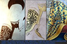G.D. Cani - 2014 - How to create painted shading and 3D effects on gold leaf. Creating fabric texture using oil colours.