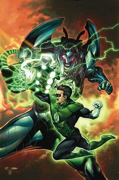 Hal Jordan And The Green Lantern Corps (Cover A Rafael Sandoval & Jordi Tarragona) Green Lantern Corps, Green Lantern Rebirth, Green Lantern Hal Jordan, Green Lanterns, Blue Lantern, Heros Comics, Dc Comics Characters, Dc Comics Art, Dc Heroes
