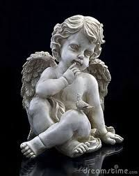 The Angels also call for silence Cherub Tattoo, Garden Angels, Angel Statues, Garden Sculpture, Outdoor Decor, Art, Google, Stones, Peace