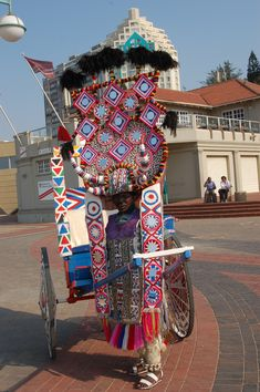 Cultural fusion - Rickshaws - Durban South Africa