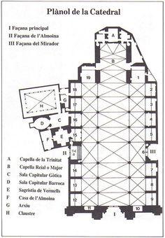 HIGH GOTHIC, Spain - Plan, La Seu, Cathedral of Palma, 1229-1601.