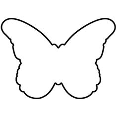 black and white butterfly outline butterfly black white outline rh pinterest com butterfly outline clipart free Butterfly Clip Art