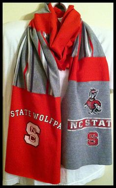 Scarf NORTH CAROLINA STATE University Would love this made out of some of my old shirts