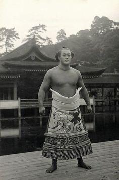 Sumo wrestler, ca. 1910, Japan