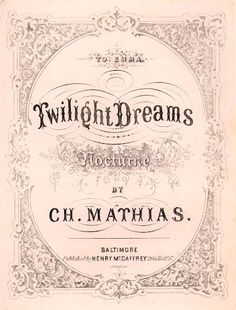 """Twilight Dreams"" ~ Vintage Sheet Music Cover"